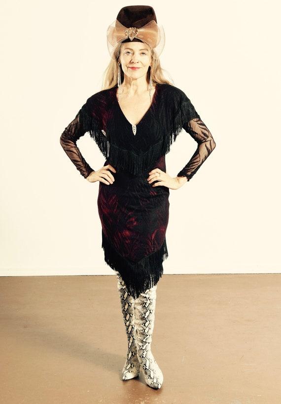 Susan Roselli for Vijack/ 90's Western Dress/ West