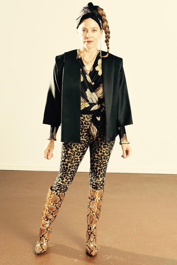 Black Kimono Blazer/ 80's Kimono/ 80's Kimono Jac… - image 1