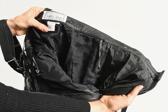 Erez Levy Leather Pants/ 80's Black Leather Pants… - image 10