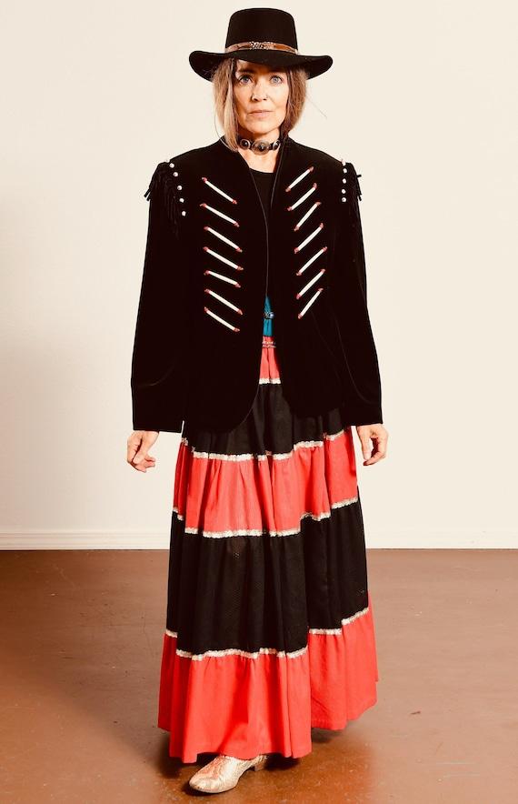 Native American Fringe Jacket/ Fringe and Bone Bea