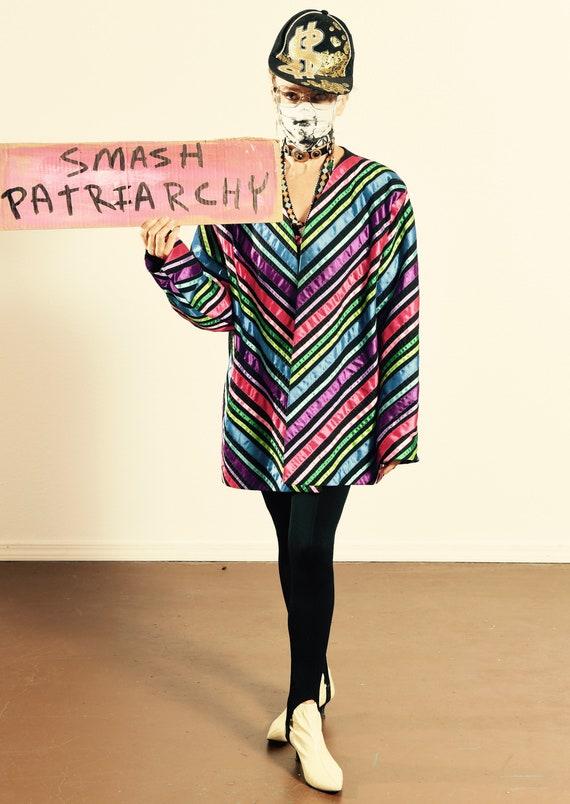 Tachi Castillo/ 80's Ribbon Jacket/ Vintage Ribbon