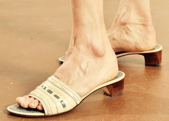 Vintage Cole Haan Resort Shoes/ Cole Haan Mules/ … - image 1