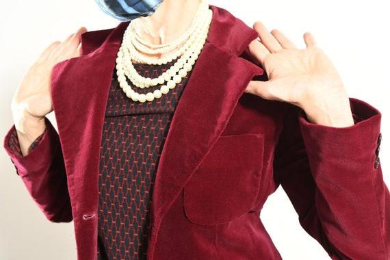 JH Harry's Santa Fe/ Vintage Velvet Blazer/ Burgu… - image 6