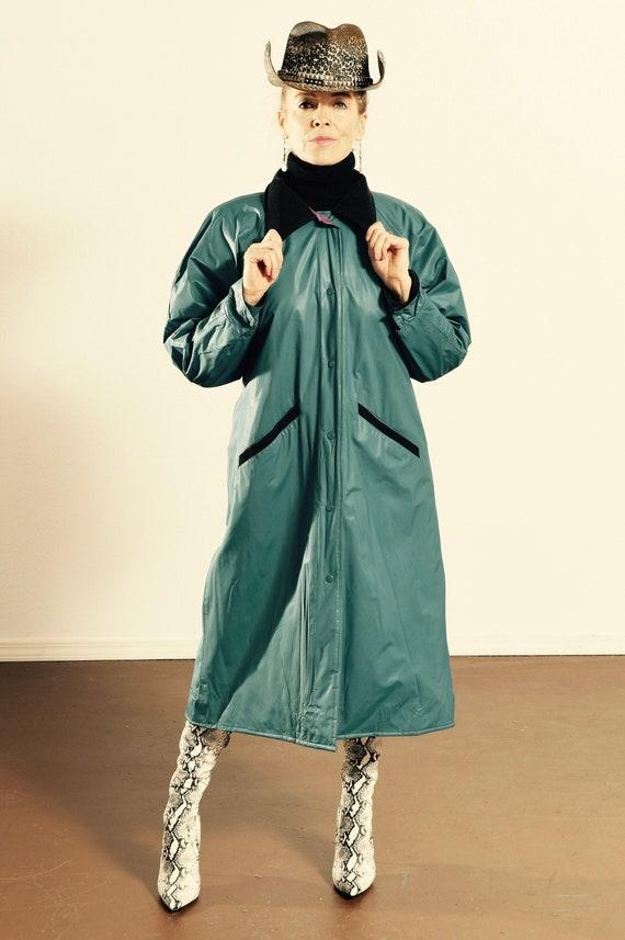 Misty Harbor Rain Coat/ 80's PVC Rain Coat/ PVC Du