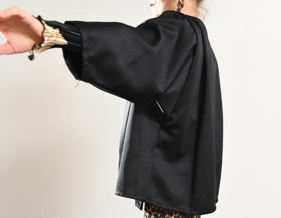 Black Kimono Blazer/ 80's Kimono/ 80's Kimono Jac… - image 7
