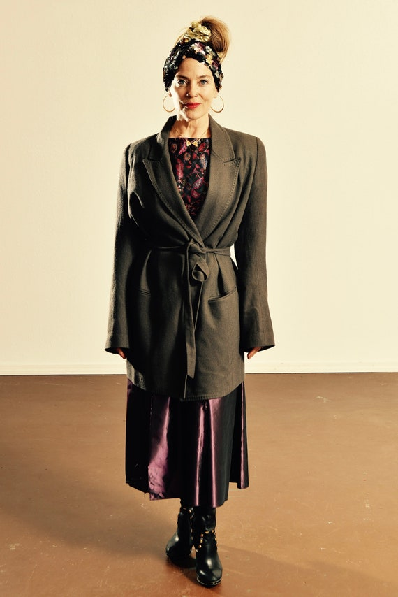 Ann Demeulemeester Gray Blazer Jacket/ Size 38