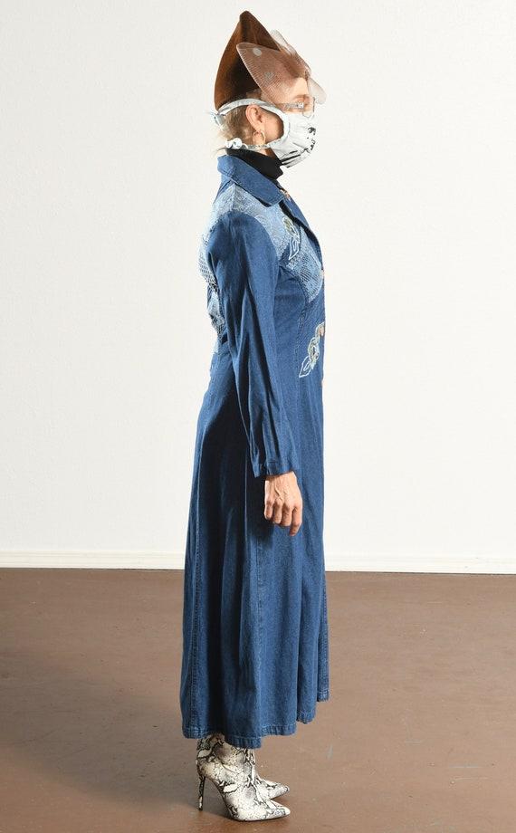 Styleworks/ Denim Duster/ Embroidered Denim jacke… - image 3