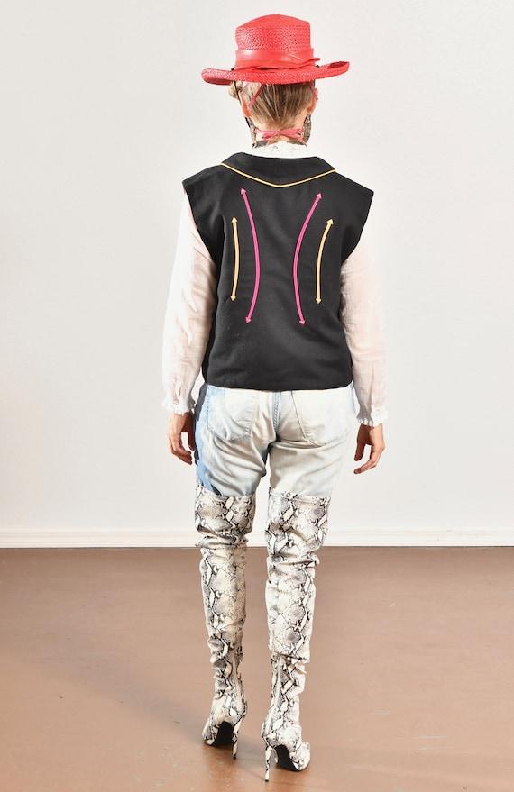 Gerard by Pege/ Wool Western Vest/ Wool Cowboy Ve… - image 4