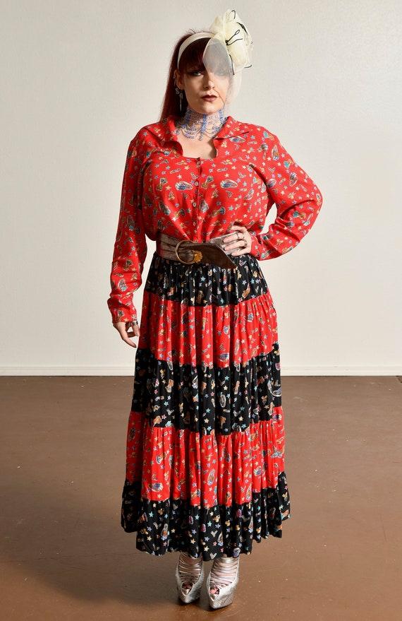 Country Western Two Piece Skirt Set/ Western Prai… - image 2