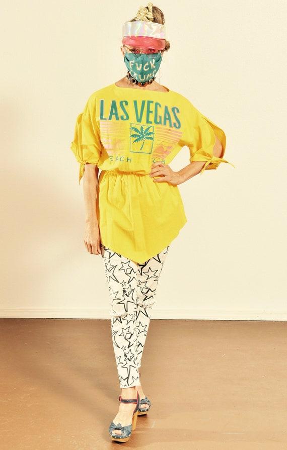 The Active Edge/ Vintage Las Vegas Shirt/ 70's Las