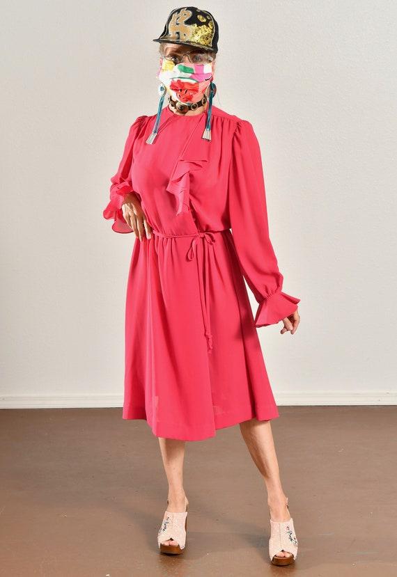 Ayers by E. Eysen/ Pink Chiffon Dress/ Chiffon Se… - image 2