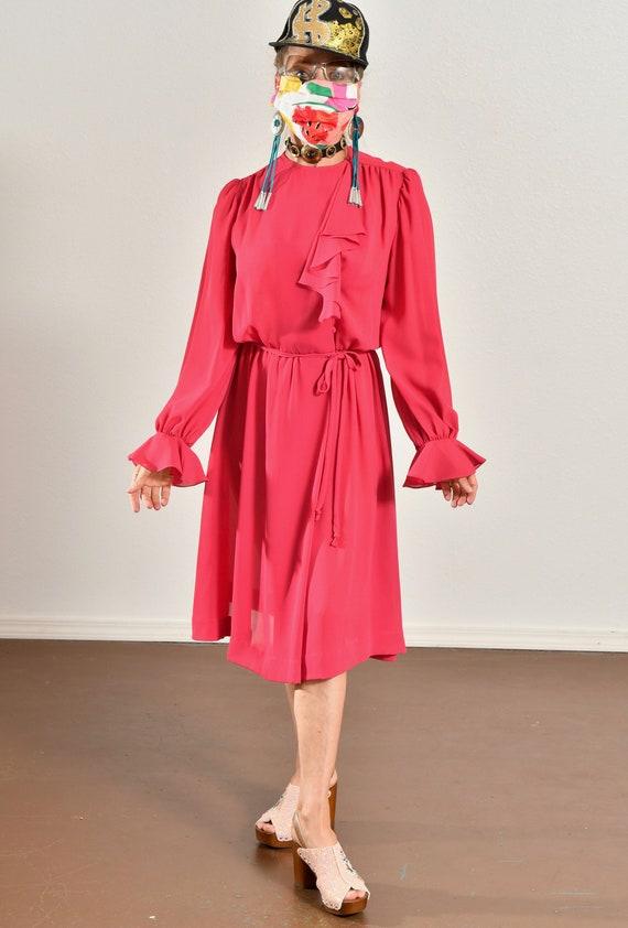Ayers by E. Eysen/ Pink Chiffon Dress/ Chiffon Se… - image 6