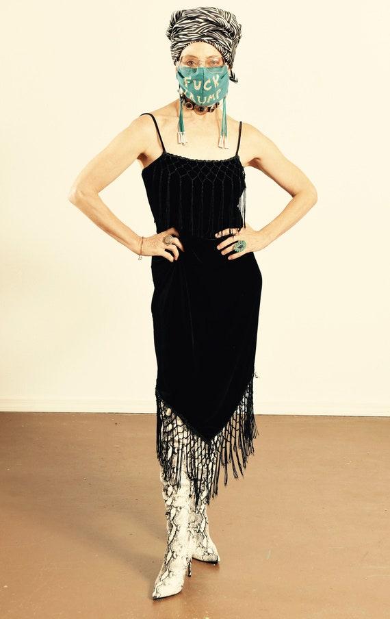 Linda Bernell/ 90's Velvet Slip Dress/ 90's Slip D