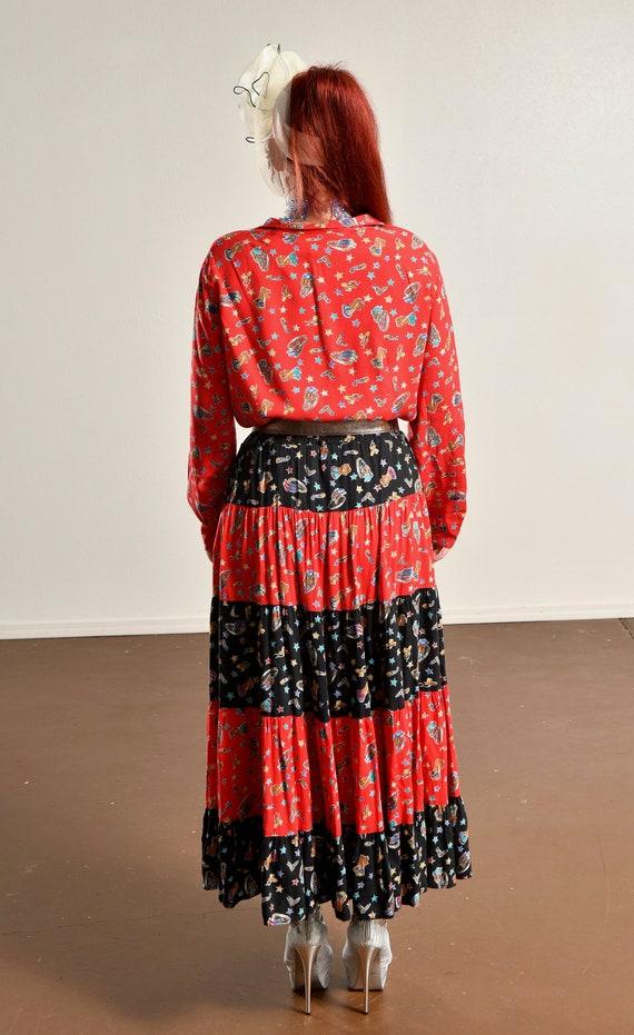 Country Western Two Piece Skirt Set/ Western Prai… - image 5
