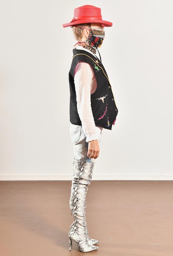 Gerard by Pege/ Wool Western Vest/ Wool Cowboy Ve… - image 3