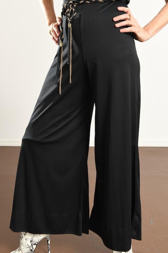 70's Disco Jumpsuit/ 70's Hooded Jumpsuit/ Black … - image 6