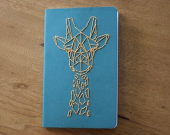 Large Moleskine Journal with Giraffe Embroidery
