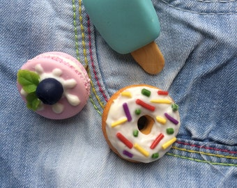 sweet tasty brooch made of polymer clay