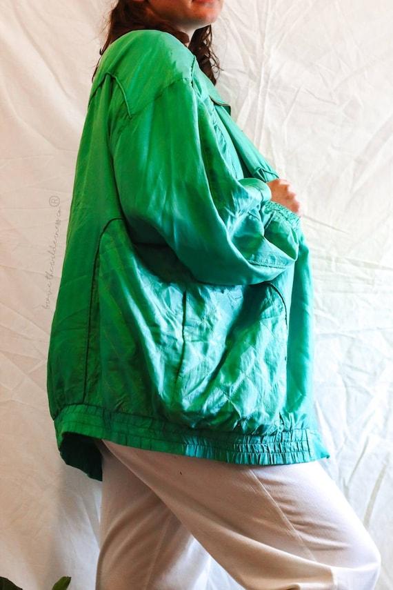 Green Silk - Vintage Fuda International 100% Silk