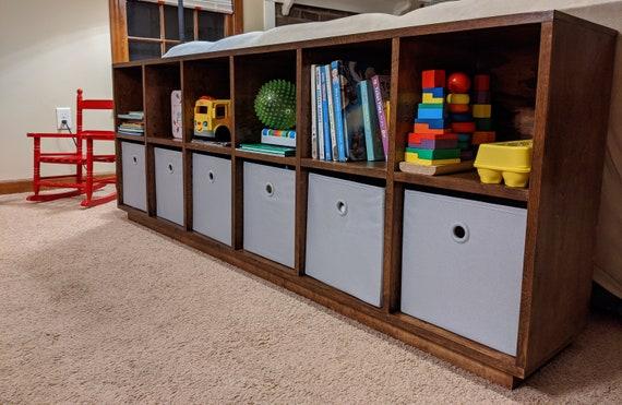 Storage Shelf Or Toy Shelf Fits Fabric Bins Built To Order Etsy