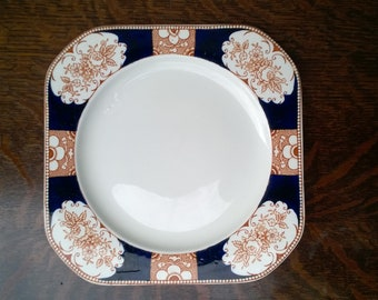 """Wood & Sons  'Napoli' dinner or serving plate  9 1/2"""" early twentieth century"""