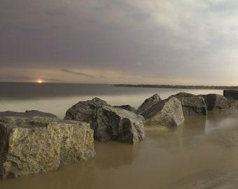 Beach at night print