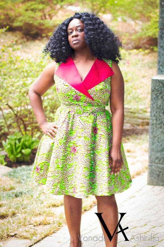 taille 7 amazon qualité authentique Pagne africain exceptionnelle robe ; Robe courte africain bleu ; Robes  africaines pour les femmes ; Vêtements africain pour les femmes ; Ankara ;  ...