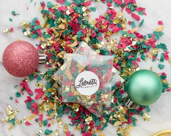 Christmas Confetti Party Packets, Christmas Confetti, Holiday Confetti, Red and Green Confetti