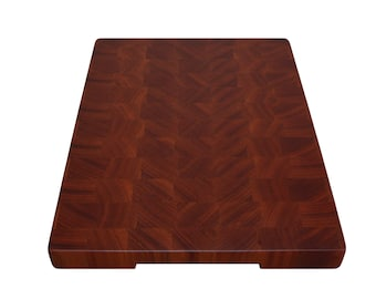 Sapele, Large Cutting Board End Grain with Feet, Butcher Block, Chopping Board, Cheese Board, Perfect Gift, Kitchen, Exotic Wood, Handmade