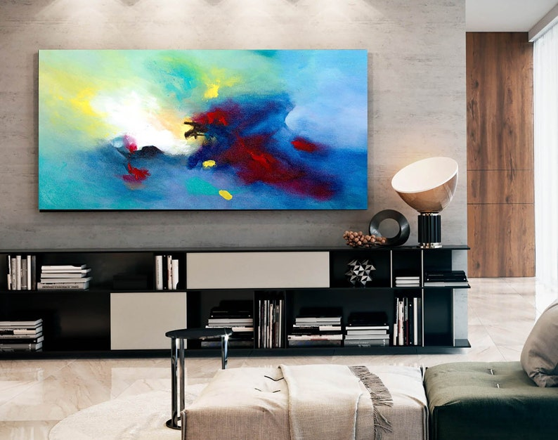 Abstract Painting Master Bedroom Art Living Room Textured | Etsy