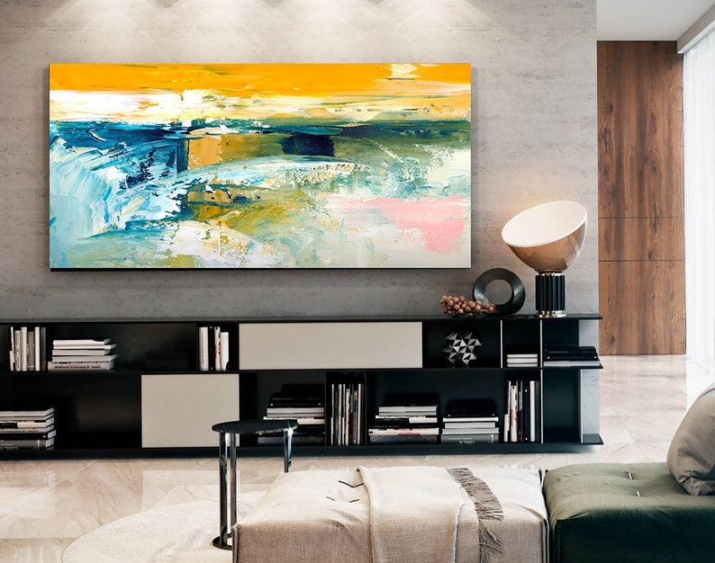 Abstract Painting Master Bedroom Art Living Room Textured Acrylic Painting  Entryway Above Sofa Paintings for Home Huge Sizes Artworks Nw0037