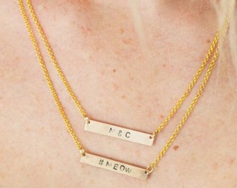 Stamped Jewelry-Necklace