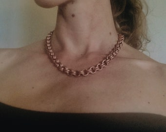 Handmade Copper Chain Necklace