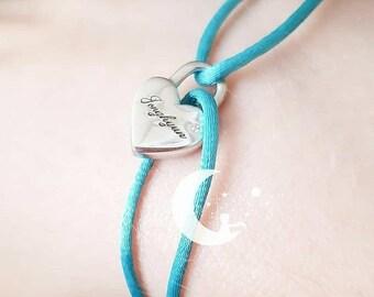 Love - Padlock Rope Bracelet
