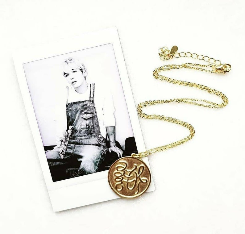 Jonghyun She Is Sterling Silver Necklace Gold plated