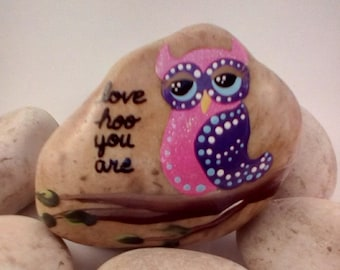 Owl/Love Hoo You Are Painted Rock