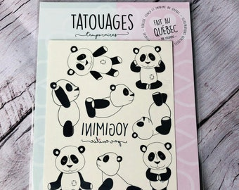 The PANDA temporary tattoos