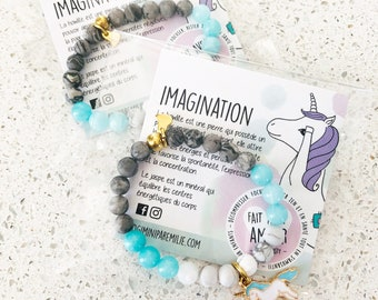 Mala for child bracelet / Unicorn