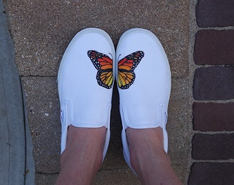 Hand Painted Monarch Butterfly Vans