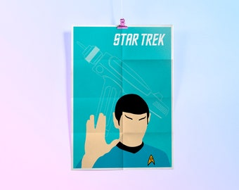 A4 Art Print, Star Trek Gene Roddenberry, Minimal Poster