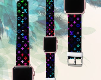 louis vuitton apple watch band etsy