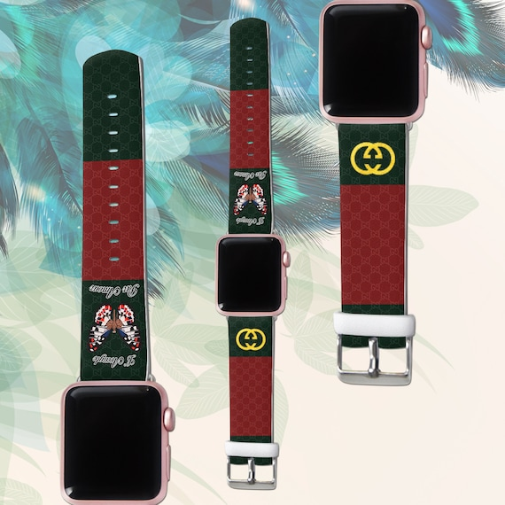 7822cfeb54d Apple watch band iWatch Strap butterfly band Inspired by Gucci