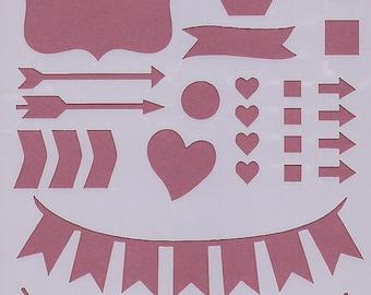 Garland P6 stencil for bullet journal