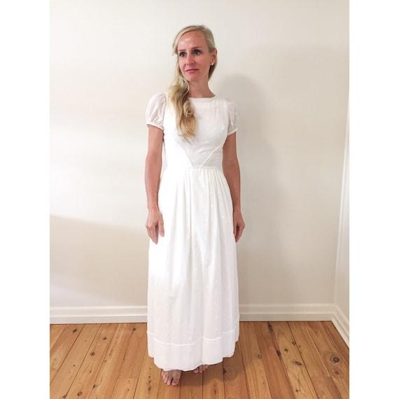 1950's Cotton Wedding Dress