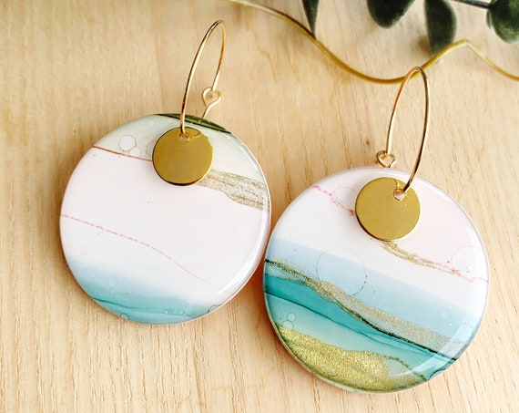 Hand-Painted Hoop Earrings