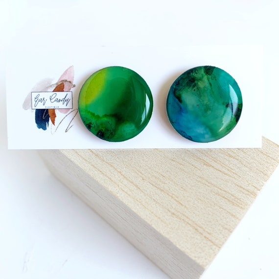 Painted Ink Statement Studs