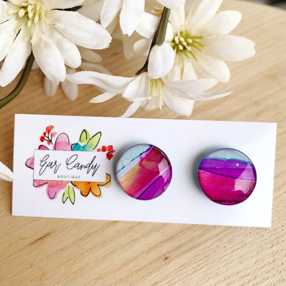 Ink + Resin 1.5cm Studs