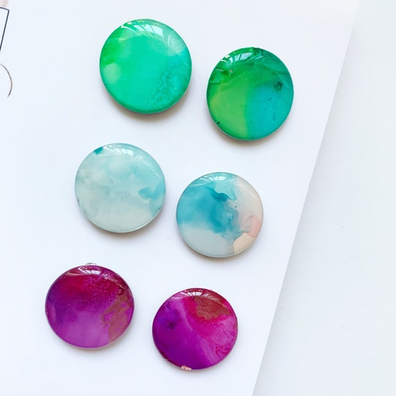 Painted Ink Statement Stud Trio