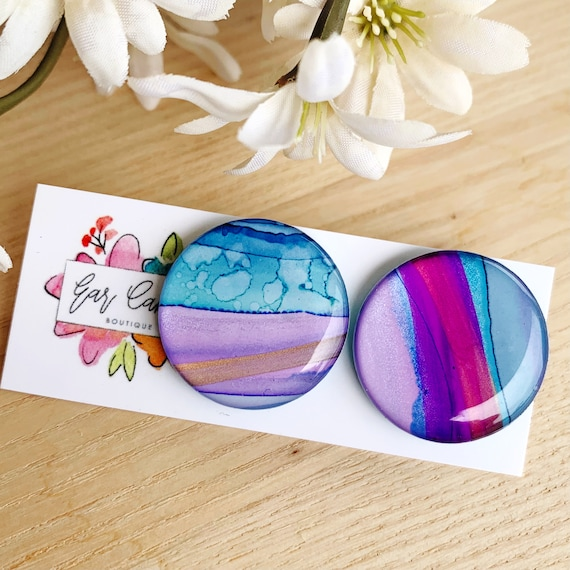 Ink + Resin 2.5cm Studs