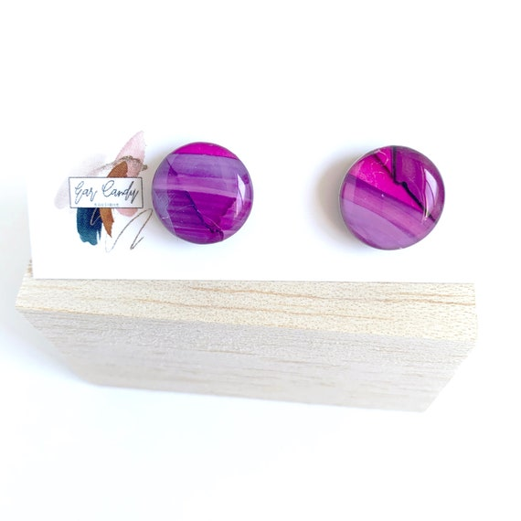 Painted Ink 1.5cm Studs